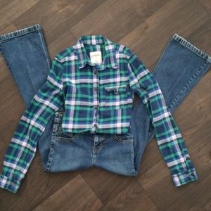 Abercrombie Flannel  Shirt and children place pant